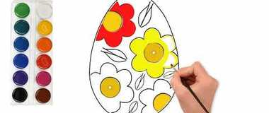 How to Draw an Easter Egg quick and easy! #YouTubeKids #howtodraw, #Pencil