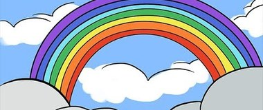 How to Draw a Rainbow and Clouds Easy with Coloring, #YouTubeKids, #howtodraw
