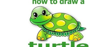 How to draw a turtle, draw animals, #children, #YouTubeKids, #howto