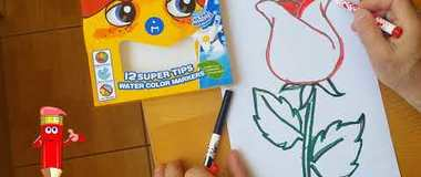 How to draw a rose, draw a flower step by step, #YouTubeKids