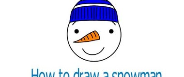 How to draw a snowman, #YouTubeKids