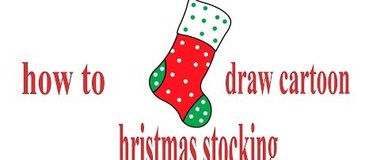 how to draw cartoon Christmas stocking, #YouTubeKids, #Howtodraw, #PencilTV