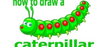 How to draw a caterpillar, draw a landscape, #children, #YouTubeKids, #howto