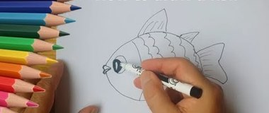 How to draw a fish, draw a fish, #YouTubeKids