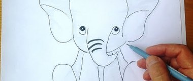 How to Draw an Elephant, Draw Animals, #YouTubeKids