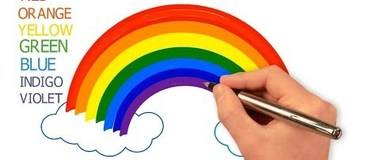 How to Draw a Rainbow and Clouds Easy with Coloring, #RainbowColors - YouTube