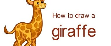How to draw a giraffe, draw animals, #children, #YouTubeKids, #howto