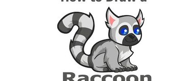 How to Draw a Raccoon, draw animals, #children, #YouTubeKids