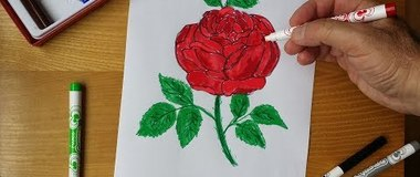 How to draw a rose, draw a flower roses step by step, #YouTubeKids