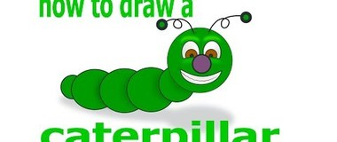 How to draw a caterpillar, draw insects, #children, #YouTubeKids, #howto