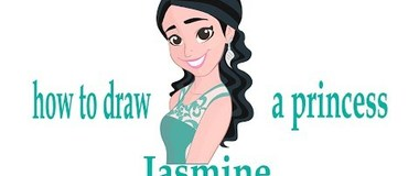 How to draw a princess Jasmine, draw a portrait, #Kids, #YouTubeKids, #Howtodraw, #penciltv