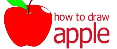 How to draw an apple, draw the fruit, #children, #YouTubeKids, #howto