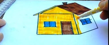 How to draw a house, How to draw a HOUSE easy for kids, #YouTubeKids